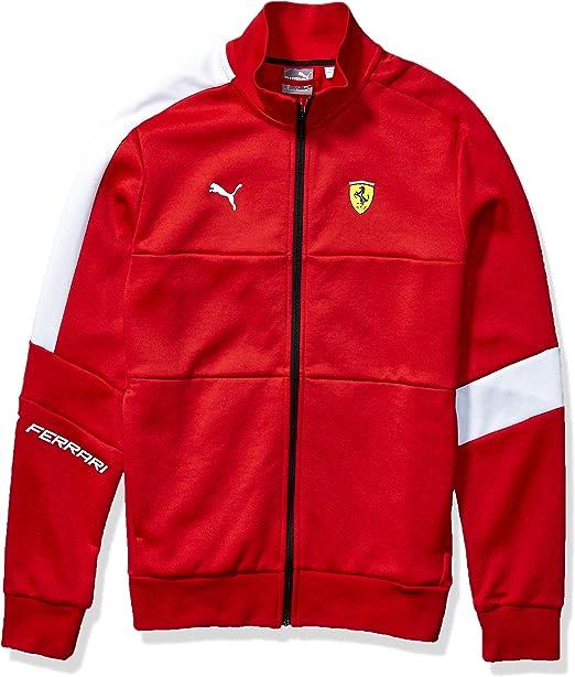 Puma Herren Scuderia Ferrari T7 Track Jacket Fleecejacke Rosso Corsa Large Sport Freizeit