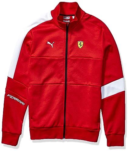PUMA Men\u0027s Standard Scuderia Ferrari T7 Track Jacket, Rosso Corsa, XX,Large