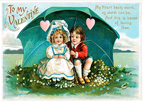 Amazon Com Unique Vintage Valentines Day Cards School Package