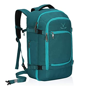 644dbd3e0907 Hynes Eagle Travel Backpack 40L Flight Approved Carry on Backpack Teal 2018