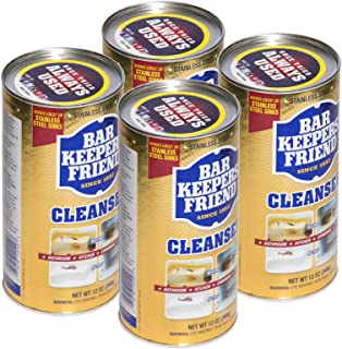 product image for Bar Keepers Friend Powder Cleanser (12 oz) - Multipurpose Cleaner & Stain Remover - Bathroom, Kitchen & Outdoor Use - for Stainless Steel, Aluminum, Brass, Ceramic, Porcelain, Bronze and More (4)