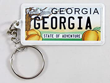 World By Shotglass New Mexico License Plate Aluminum Ultra-Slim Rectangular Souvenir Keychain 2.5 X 1.25x 0.06