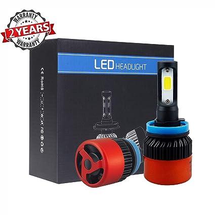 Amazon com: H11 LED Headlight bulbs,MOTOBA All-in-One Conversion Kit