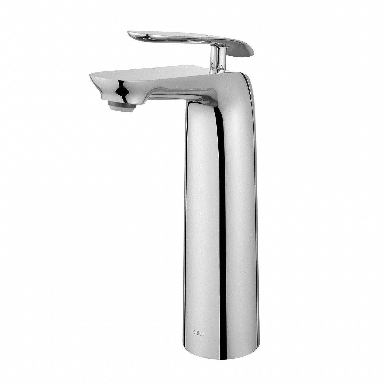 Kraus FVS-1820CH Seda Single Lever Vessel Bathroom Faucet, Chrome ...