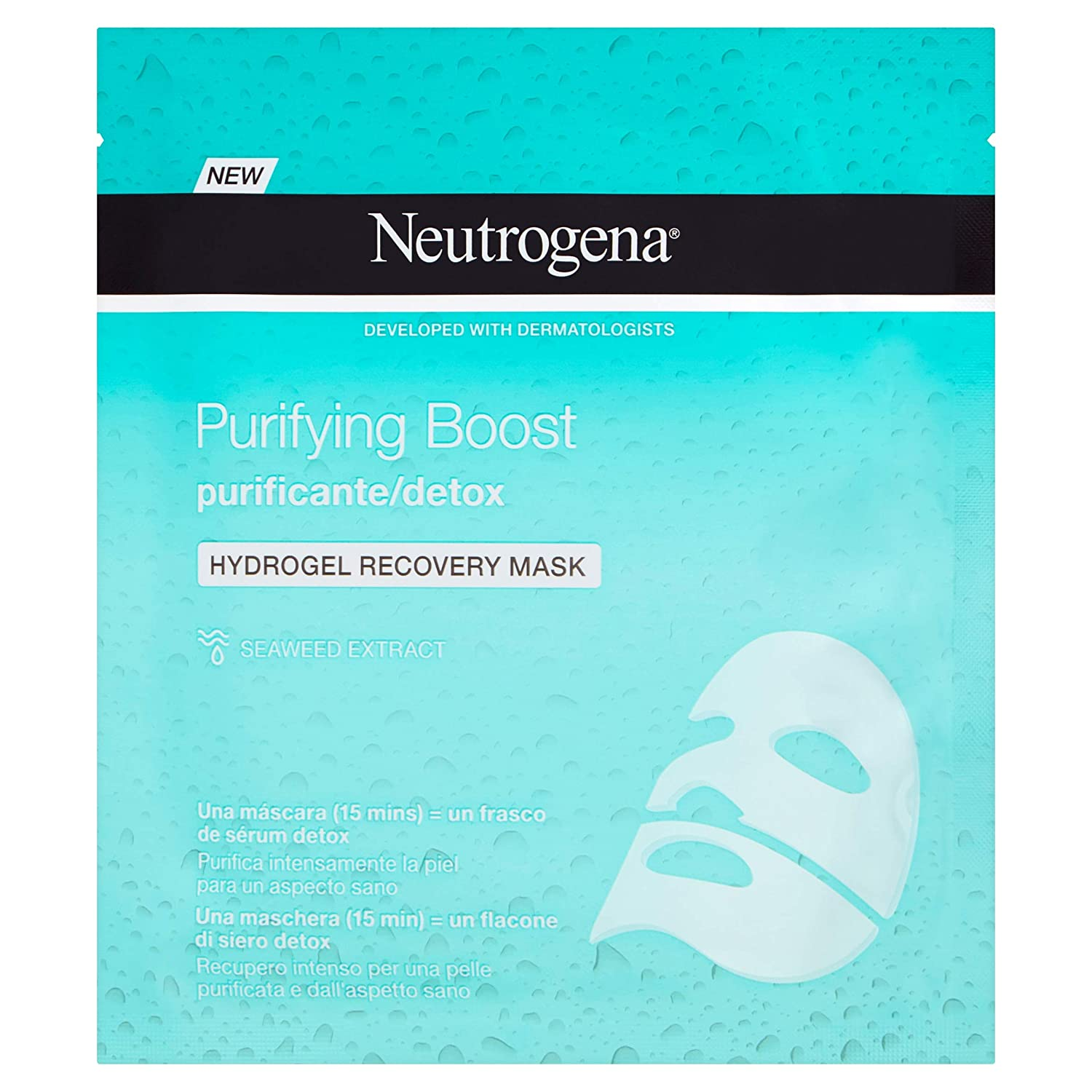 Neutrogena Hydrogel Mascarilla Purificante (3 Recipientes De 30 ml ...