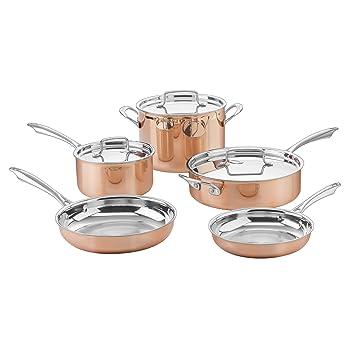 Cuisinart ctpp-8 Collection juego de ollas, tamaño mediano, cobre: Amazon.es: Hogar