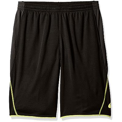 Asics Men's Big & Tall Trainer Short, black/Lime, 2XL at Amazon Men's Clothing store
