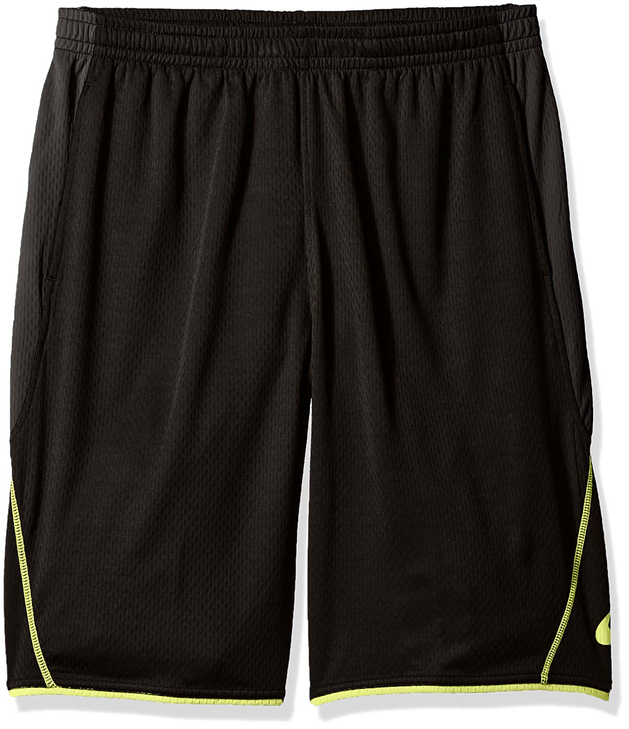 ASICS Men's Big & Tall Trainer Short black/Lime 2XL Asics Mens Athletic MS841TCW