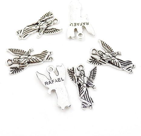 100pcs Retro Love Heart Angel Wings Charm Pendant Jewelry Finding DIY Beads