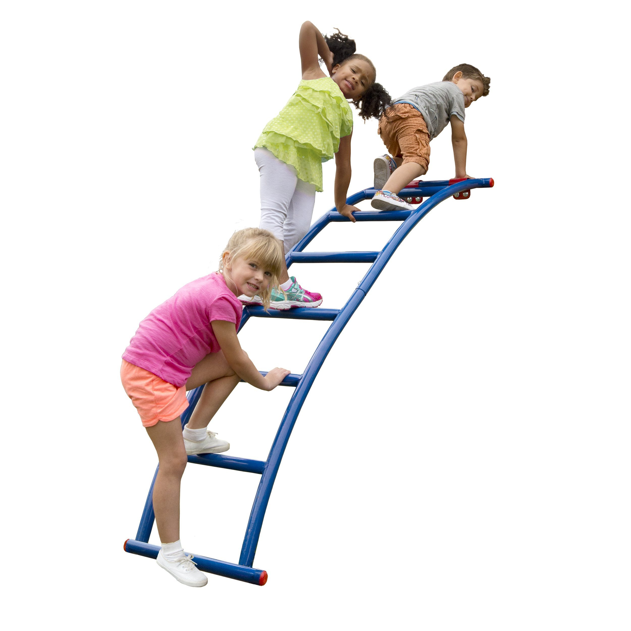 Swing-N-Slide NE 5040 Metal Arch Ladder with Multiple Configurations for Swing Sets, Play Sets & Playhouses, Blue & Red by Swing-N-Slide