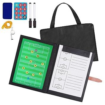 AGPTEK Carpeta Táctica con Bolsa de Transporte para Entrenamiento de Fútbol  con accesorios ce789c09ecb64