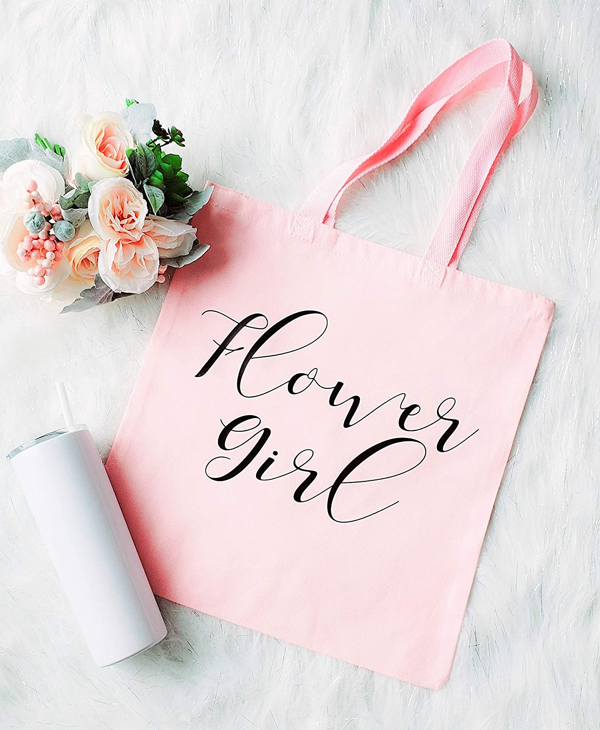 Flower Girl Gift Party Favor Bags,Will You Be My Flower Girl Birthday Gift Peach and Mint Flower Girl Purse