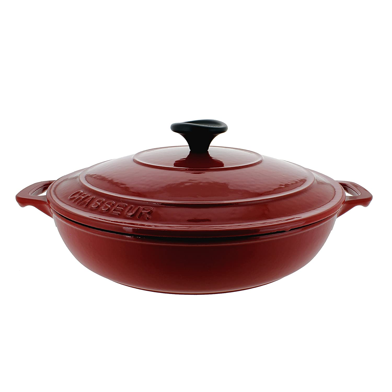 Chasseur 1.8-Quart Red French Enameled Cast Iron 1.8-Quart Braiser with Lid CI_3924_RD____CI_148