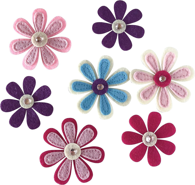 Hopeful House & Home DIY Felt Flowers with Sparkle Embellishments Little Girls Room Decor Nursery Wall Decor Baby Shower Decoration Pink Flower Craft Flower Supplies Baby Room Wall Decor Paper Flower