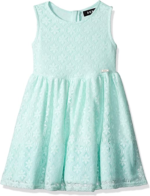 5T, white//turquoise DKNY Girls 2 piece short set