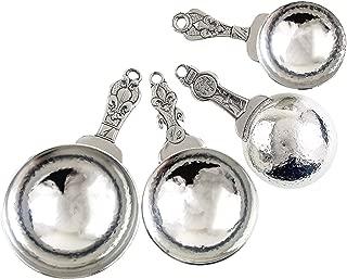 product image for Crosby & Taylor Fleur de Lys Pewter Measuring Cup Set