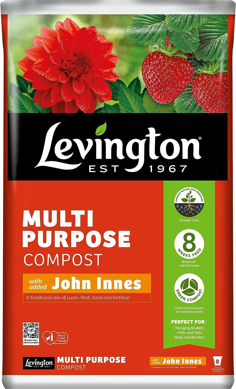 Levington 50L Multipurpose Compost Enriched with John Innes Plant Flower Potting