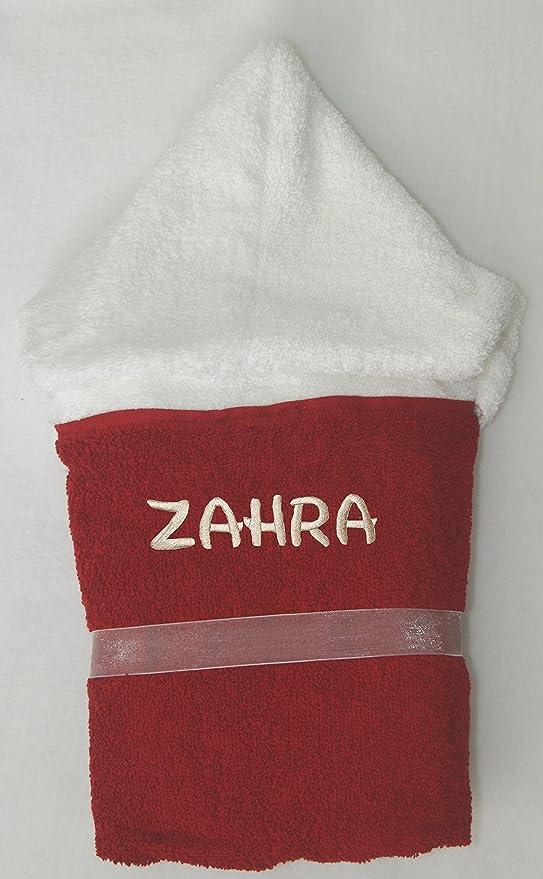 Minnie mouse personalizado hecho a mano 100% algodón suave de rizo de tamaño infantil con capucha toalla de baño. rojo rosso Talla:4-5: Amazon.es: Bebé