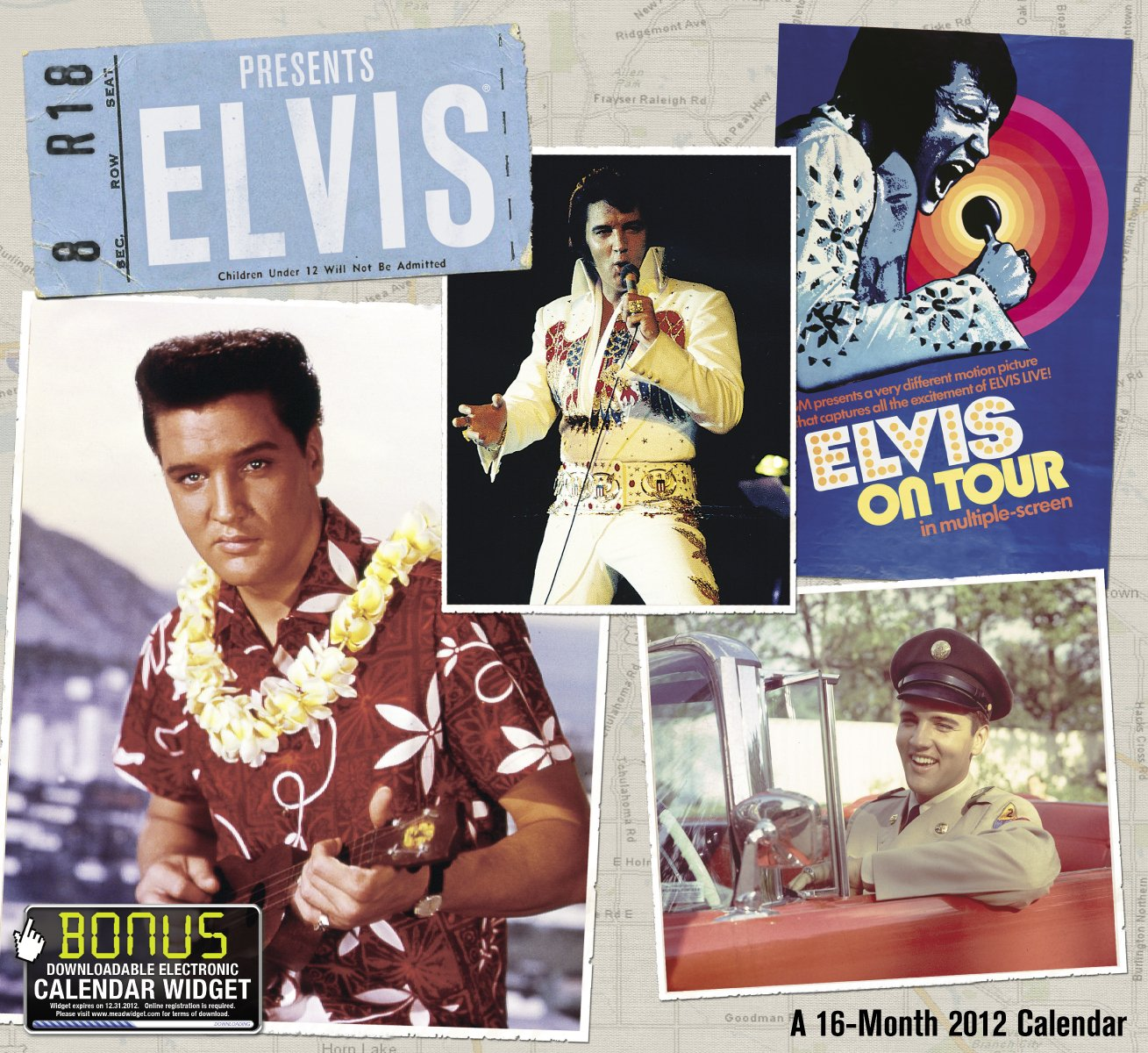 2012 Elvis Wall Calendar by Day Dream