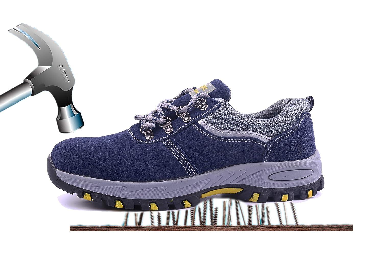 Aizeroth-UK Chaussure Bottes Baskets de Sécurité Respirant S3 Chaussure de de Travail Embout de Protection en Acier Semelle de Protection Anti-Collision Prévention des piqûres Bottes Baskets Chantiers et Industrie Bleu 3553908 - deadsea.space