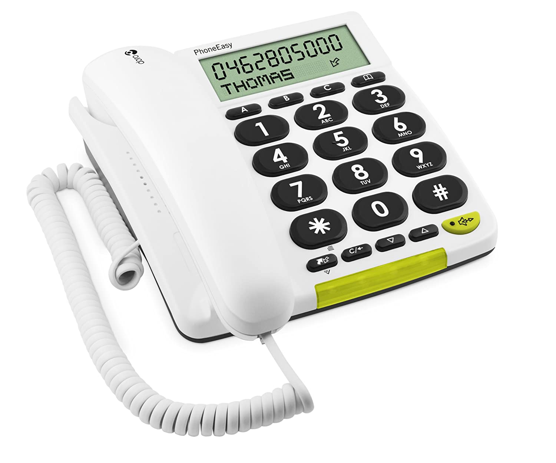 Téléphone fixe DORO PHONEEASY 312CS BLANC