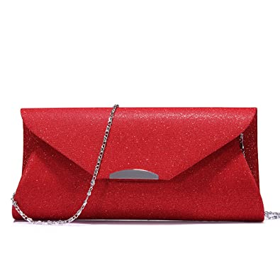 b51386b60 Evening Bag Clutch Handbags Envelope Purse for Women Flap Glitter with  Chain Strap for Wedding Party