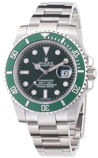 Rolex Ref.116610LV - Reloj para hombres, correa de acero inoxidable: goldia: Amazon.es: Relojes