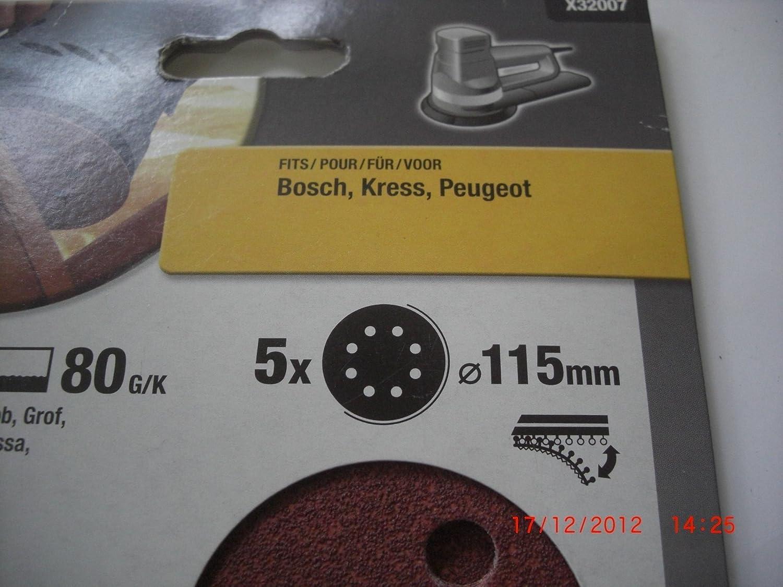 Grana 80 BLACK+DECKER X32007-XJ Dischi per Levigatrice