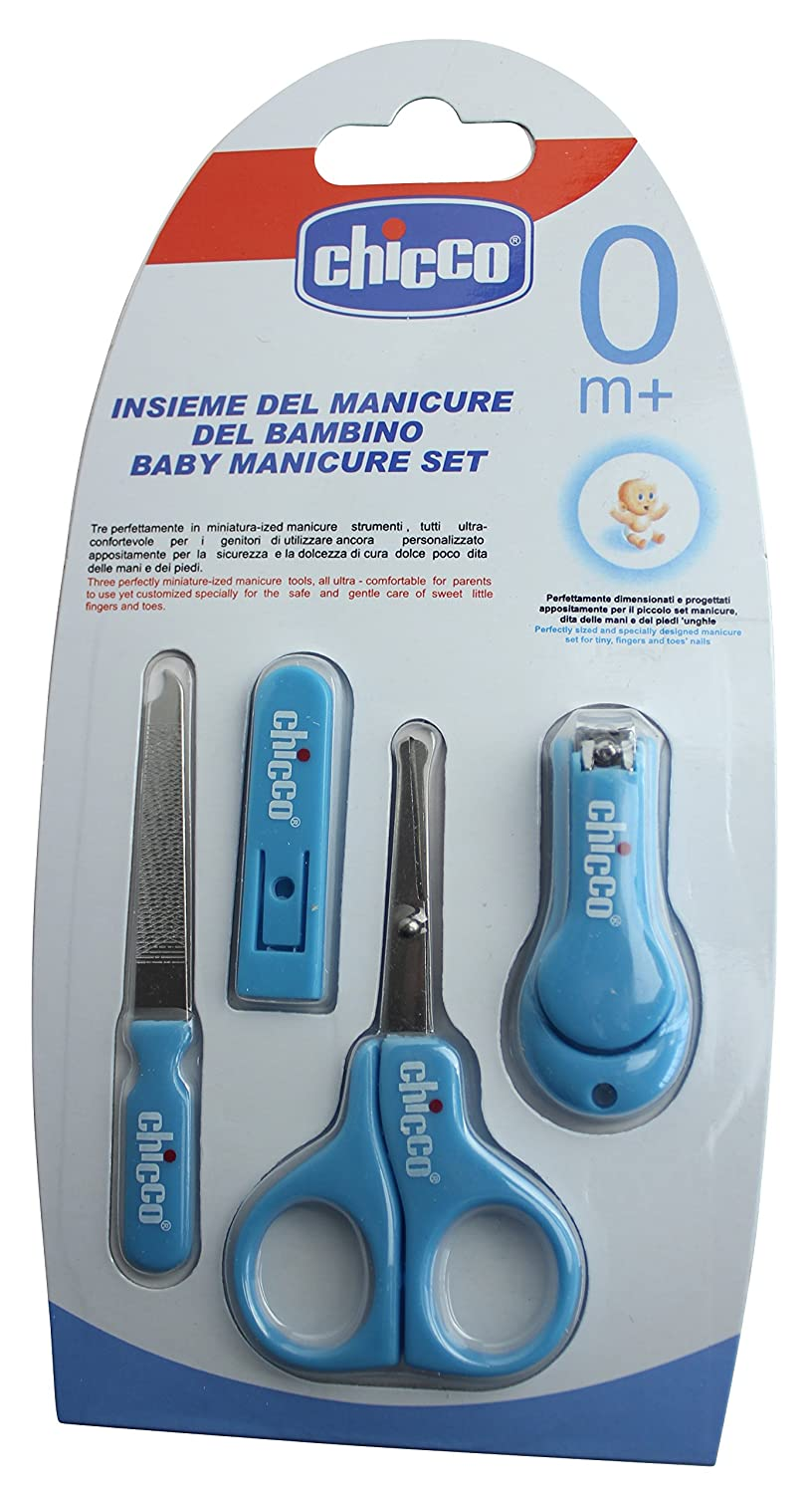 Original Baby Manicure Set Contains Scissors, Mini Nail Clippers and Delicate file In Blue BabyCentre