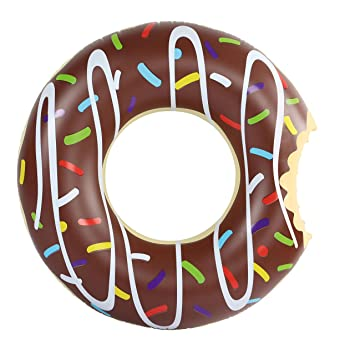 Amazing Sports - Donut hinchable, flotador 120 cm marrón XXL ...