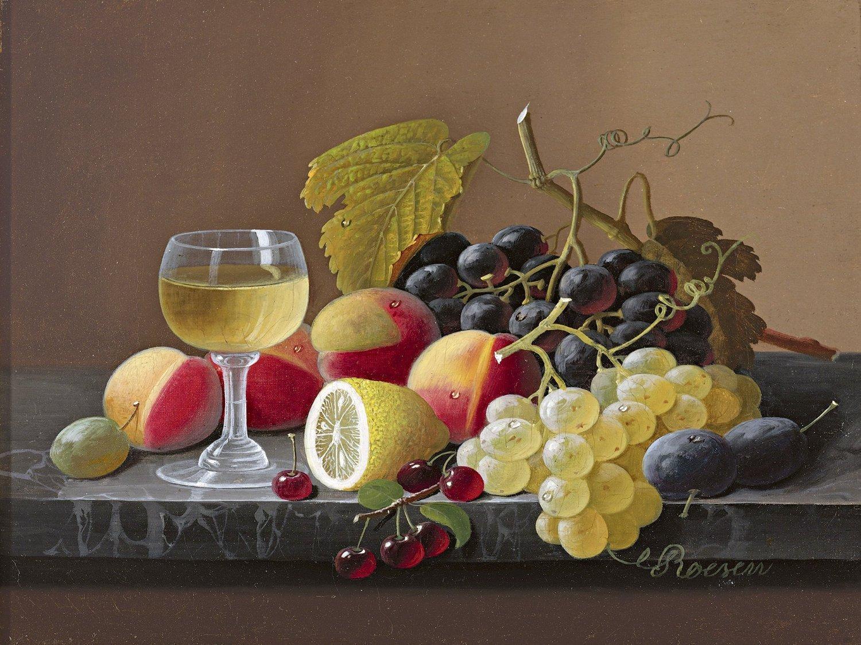 fruit lemon wine grapes s roesen tile mural wall backsplash art