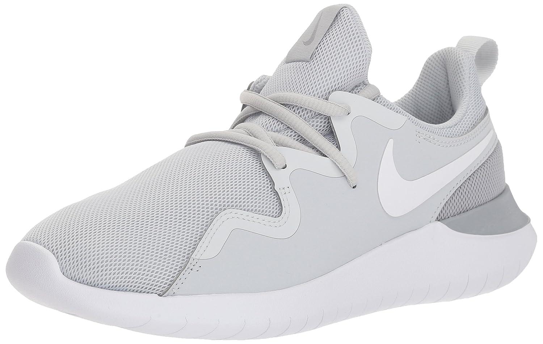 NIKE Women's Tessen Running Shoe B0733TKYWM 5 B(M) US|Pure Platinum/White - Wolf Grey