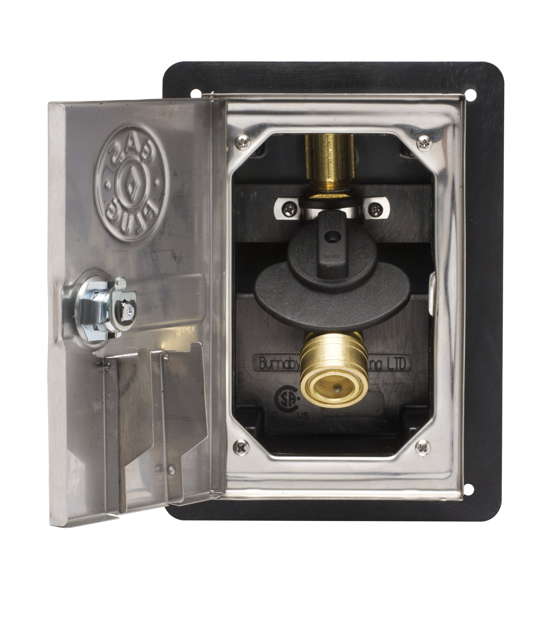 Burnaby Manufacturing Ltd GR0101-SS Recessed Plug Gas Outlet, Stainless Steel