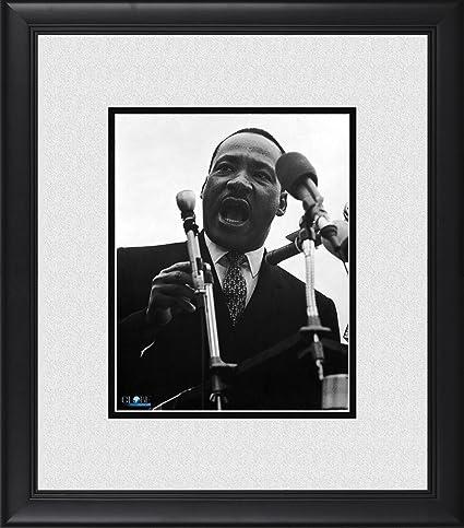 Martin Luther King Jr Framed 8 X 10 Giving A Speech Photograph At