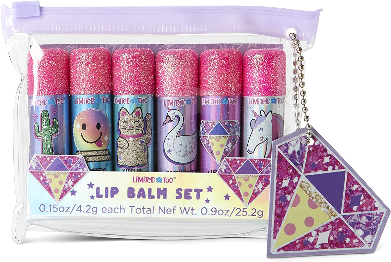 Charming Charlie Magical-Themed Flavored Lip Balm w/Beeswax Set - Princess Gift Collection, Beauty Essentials - Pack of 6: Amazon.es: Belleza