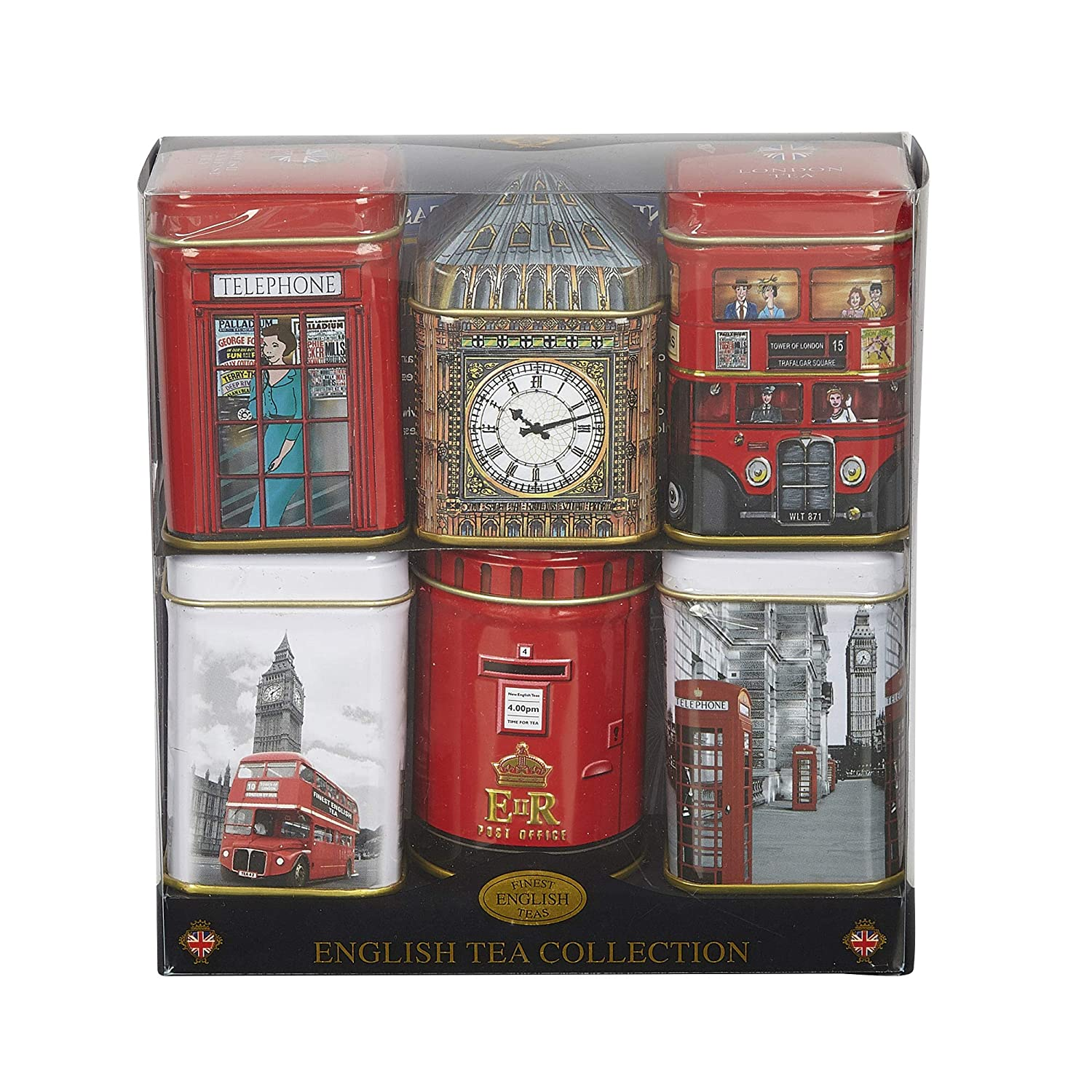 New English Teas - Mini English Tea Selection 6 Mini Tins