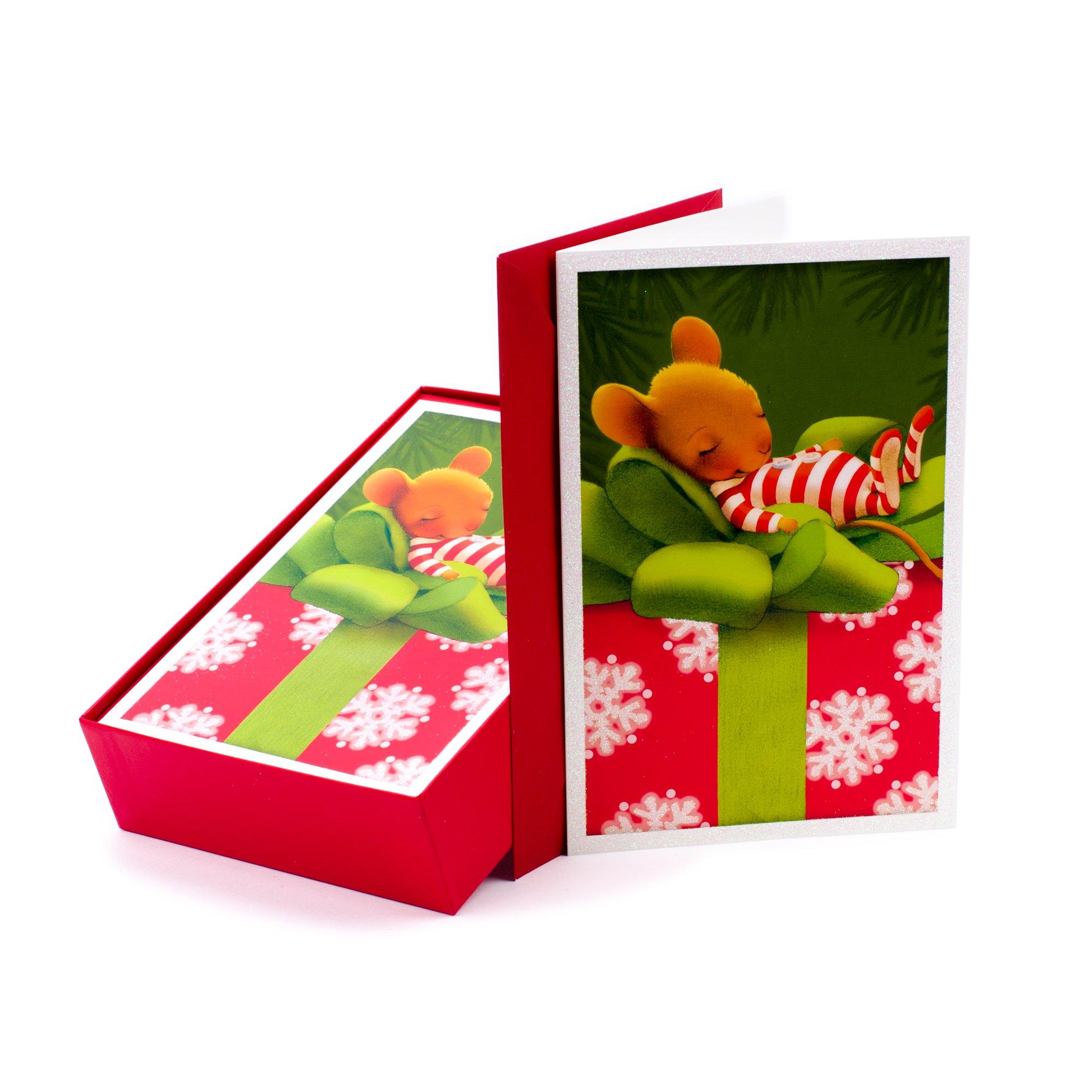 Amazon.com: Hallmark Christmas Boxed Cards, Holiday Holly (40 ...