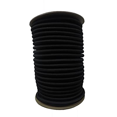 "APCC 1/2"" x 50 FT. Shock Cord - BLK: Sports & Outdoors"