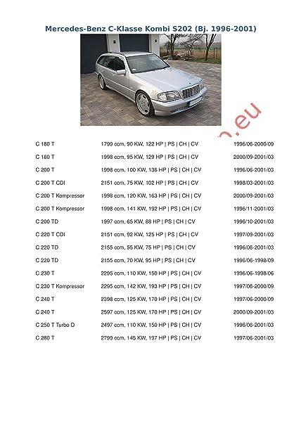 Acople con haz 7 pines   Mercedes C-Series W-202 de 1993 a 2000/gancho