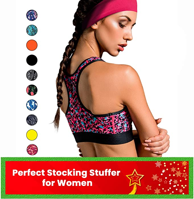Cooling Headbands for Women & Men | Moisture Wicking Sweatband & Sports Headband | Stay Cool During Workouts Cycling Cardio Running Yoga | Headband for Under Helmets & Hats | CoolCore Technology