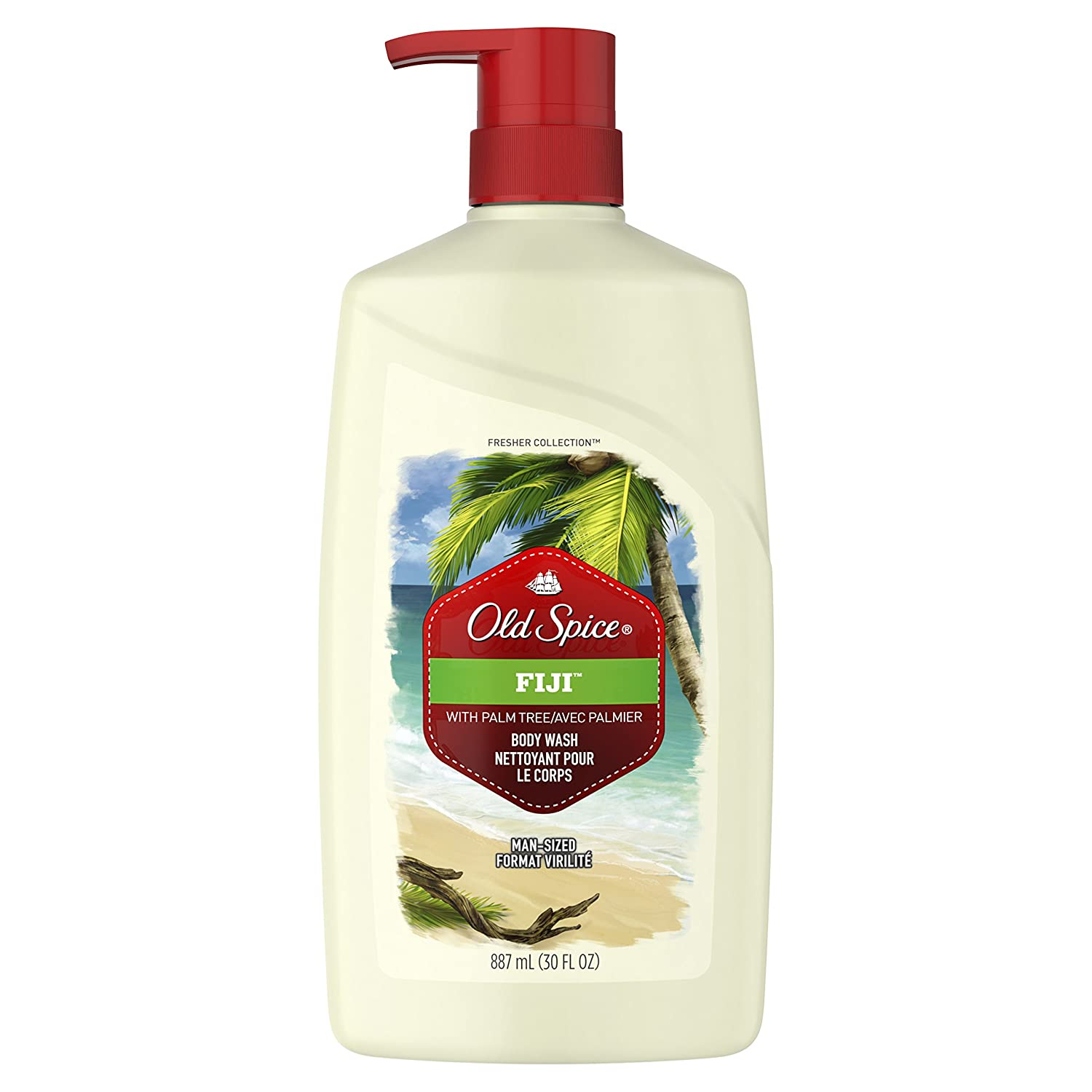 Old Spice Fresher Fiji Scent Body Wash for Men, 887 ml Procter and Gamble