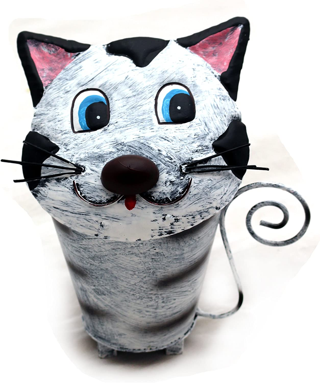 Abfalleimer Katze Motiv Treteimer BL80 Mülleimer Metall