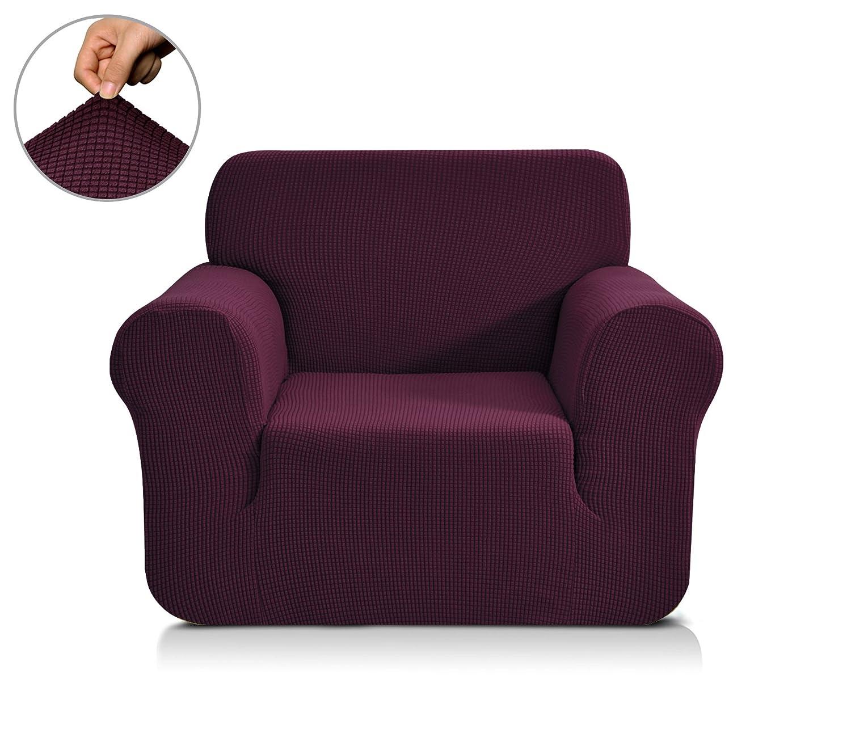 春意 1ピス 全13色 高品質伸縮素材 弾力 ジャカード生地ソファーカバー (1人掛け, 殷红) B0739YZBN2 Chair|殷红 殷红 Chair