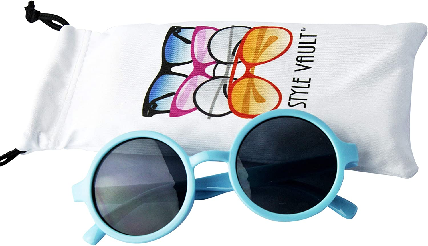 Kd3008 Baby Infant Toddlers Age 0~24 Months Round Retro Sunglasses
