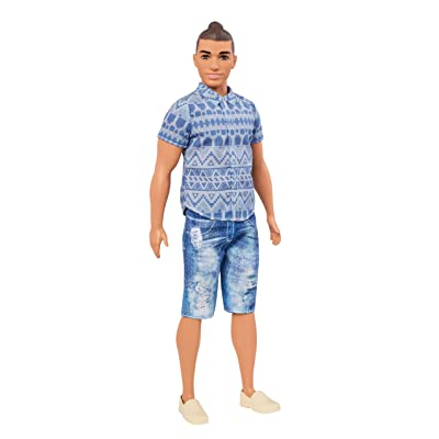 Barbie Ken Fashionistas Distressed Denim Doll, Broad: Toys & Games