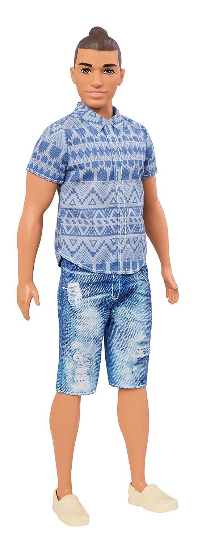 Barbie Ken Fashionistas Doll 13 Distressed Denim - Broad Mattel FNJ38