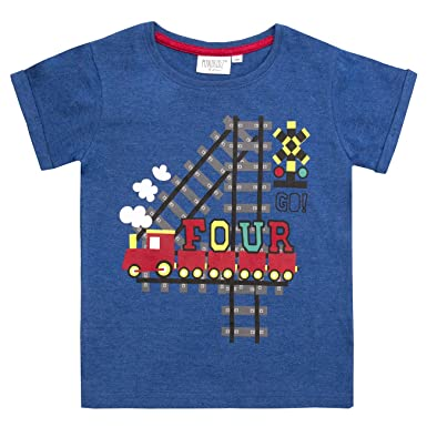 a934c313 Childrens/Boys/Girls Birthday/I Am/Age Number T-Shirt/1 2 3 4 5 6 Year (4  Years Boy): Amazon.co.uk: Clothing