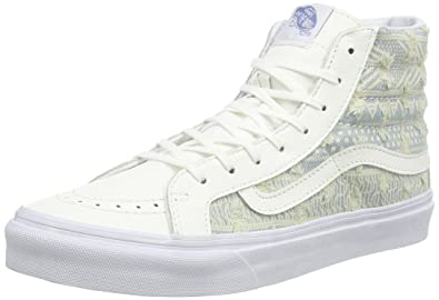 Sk8 Hi Slim (Frayed Native) True White- Women's Size 10 NWB