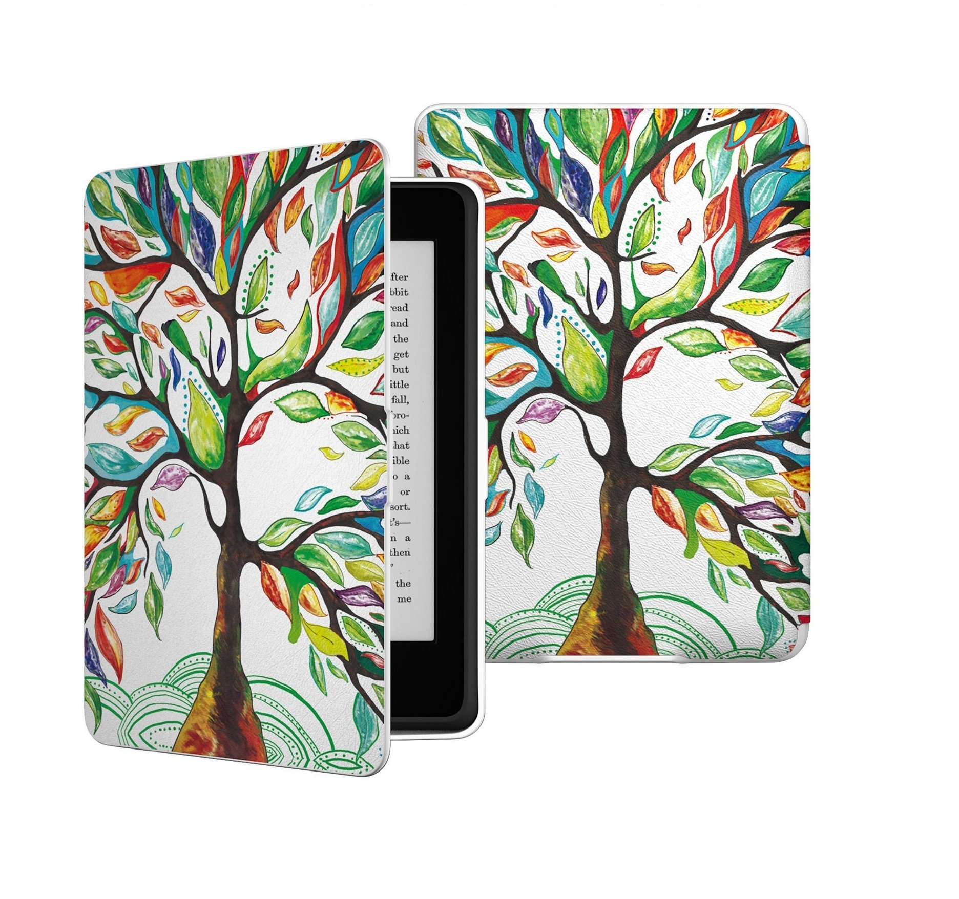 QIUQIU Amazon Kindle Paperwhite Case, Smart Protective Cover with Auto Wake/Sleep Function for Amazon Kindle Paperwhite (2016, 2015, 2013, 2012, all-new 300 PPI Versions) (Tree)