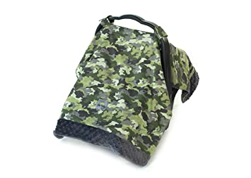 Itzy Ritzy Cozy Happens Infant Car Seat Canopy And Tummy Time Mat Green Camo